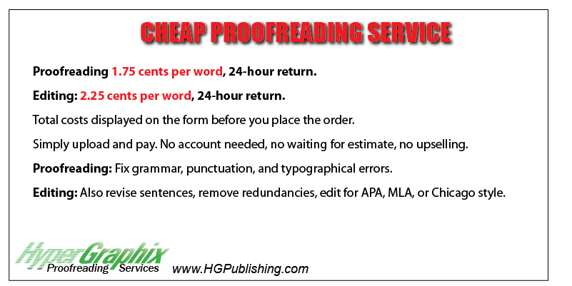 Cheap proofreading